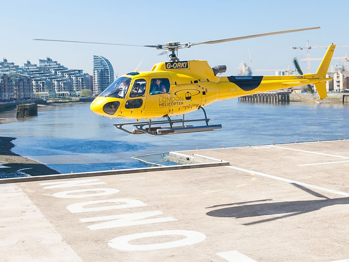 Central London Helicopter Flight and Lunch for Two