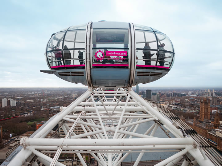 London Eye with Three Course Meal for Two